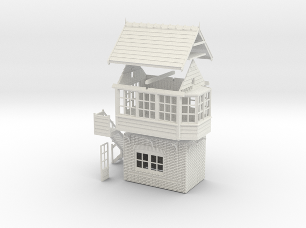 CL41 - Clifton Station Signal Box  in White Natural Versatile Plastic