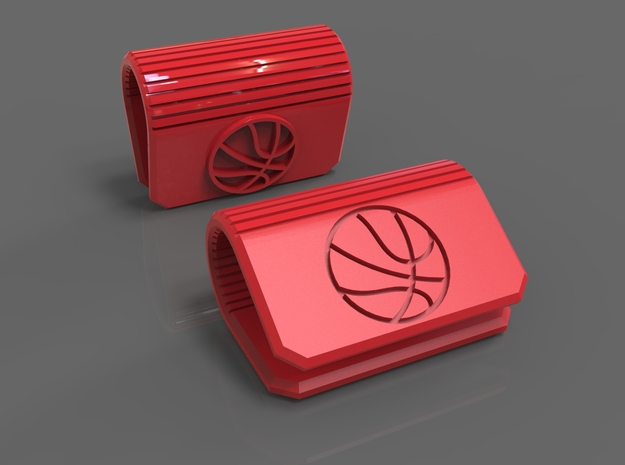 Webcam Cover Basketball Edition - Laptop Privacy in Red Strong & Flexible Polished