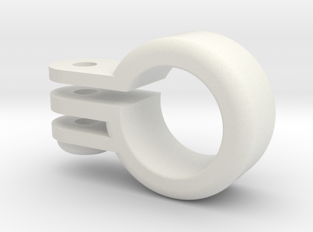 Barrel Mount for a GoPro in White Natural Versatile Plastic