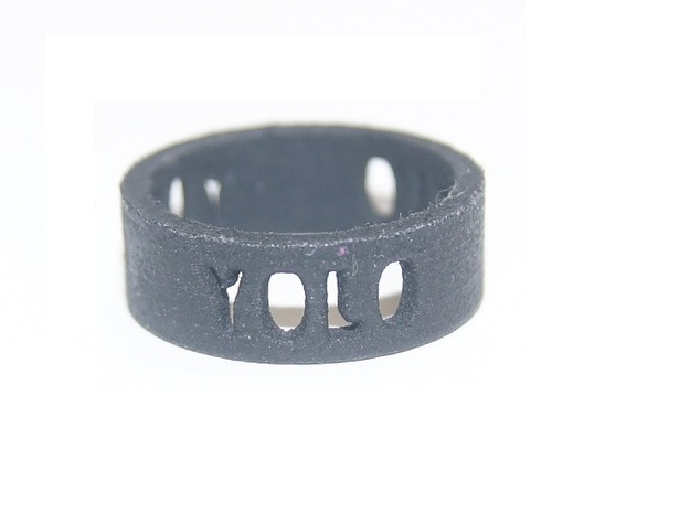 YOLO TYPE 2, Size 7 Ring Size 7 3d printed Yolo Type 2, Black