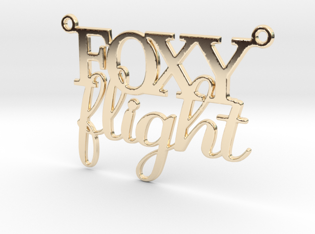Foxy Flight Necklace in 14k Gold Plated Brass
