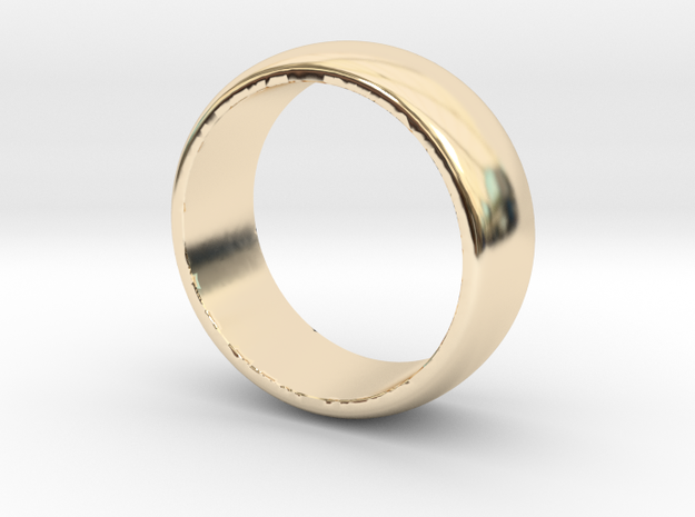 Basic 8 Wedding Band in 14k Gold Plated