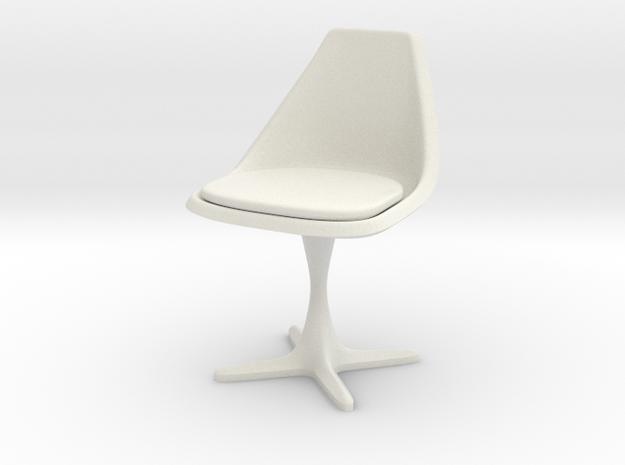 "Burke Style 115 1:18 Scale 4"" in White Natural Versatile Plastic"