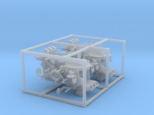 4 X 1/96 IJN Type 96 25mm Triple Mount in Smooth Fine Detail Plastic