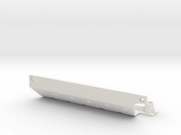 Skid plate right Adventure D90 Gelande 1:10 in White Natural Versatile Plastic