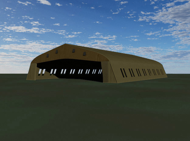 Bessonneau Hangar, 9-Bay in White Strong & Flexible: 1:144