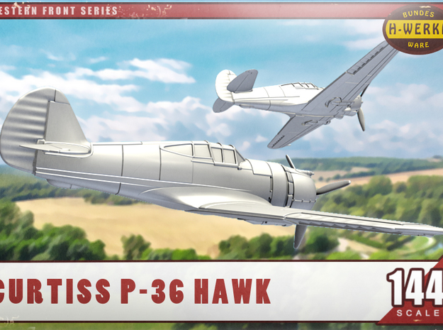 """1/144th - Curtiss 75 """"Hawk"""" (P36) in Smooth Fine Detail Plastic"""