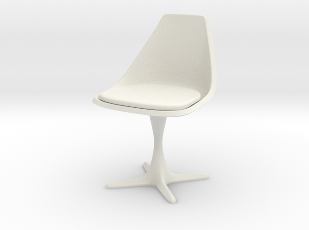"Burke Style #115 1:10 Scale 7"" in White Natural Versatile Plastic"