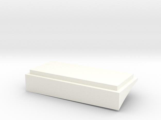 Bas in White Processed Versatile Plastic