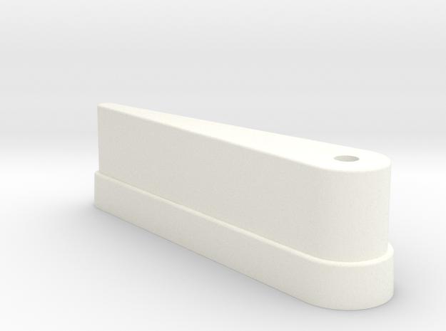 CSF#5 - 3 1-8 Inch Bat in White Processed Versatile Plastic