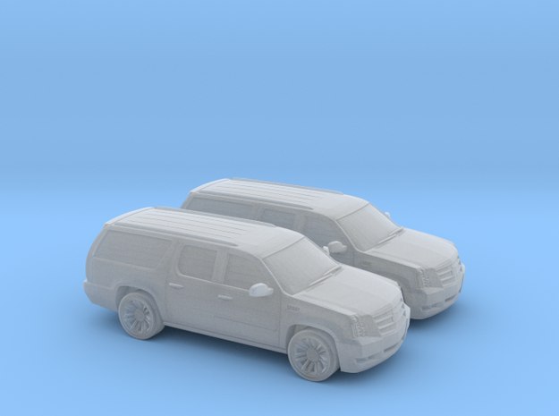 1/200 2X 2013 Cadillac Ecalade in Smooth Fine Detail Plastic