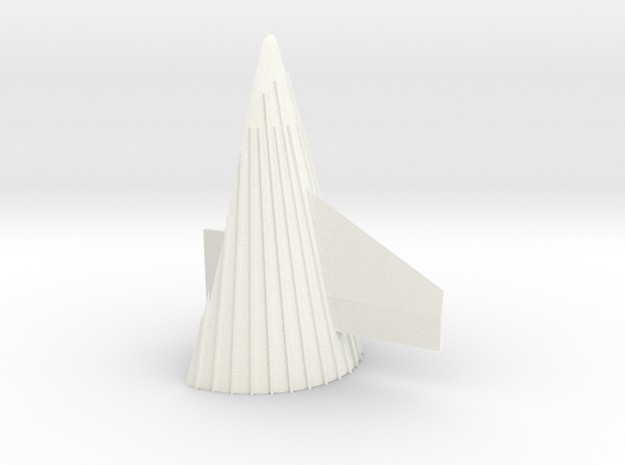 1/100 Sat V 1st Stage  fairing-correct scale in White Processed Versatile Plastic
