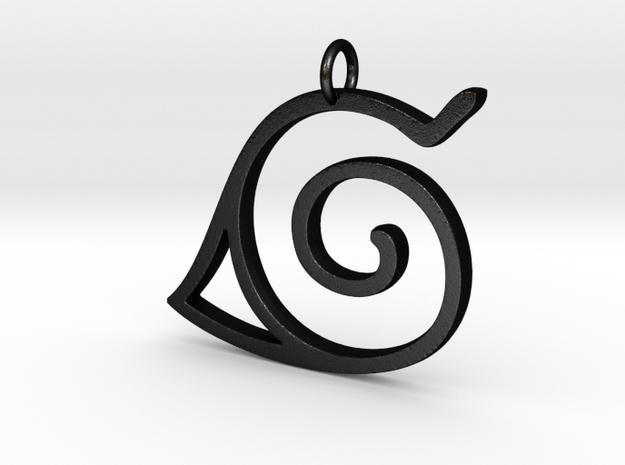 Konoha Pendant in Matte Black Steel