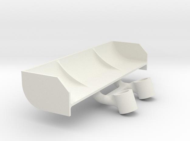 Mini Z Mazda 787B spoiler V3 20 degres in White Natural Versatile Plastic