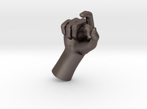 1/10 Hand 004 in Polished Bronzed Silver Steel
