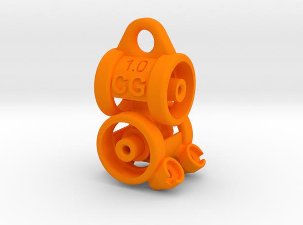 CG-cardan 1.0 in Orange Strong & Flexible Polished