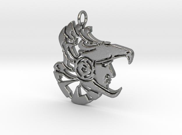 AeroMan Pendant in Natural Silver