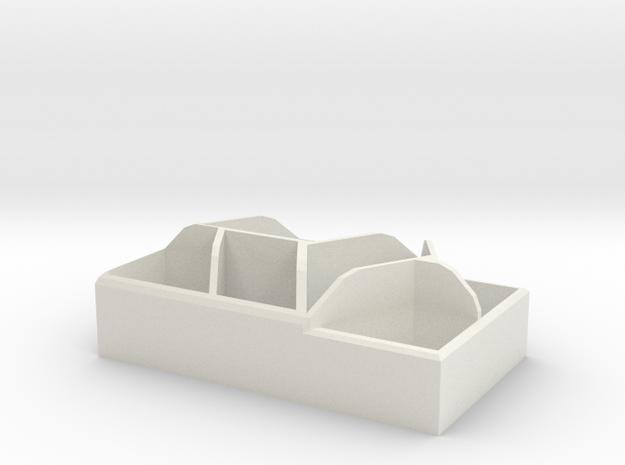 Geometric Desk Organizer in White Strong & Flexible