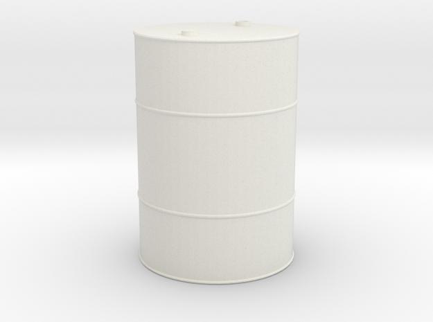 55 Gallon Drum 1/10 scale in White Natural Versatile Plastic