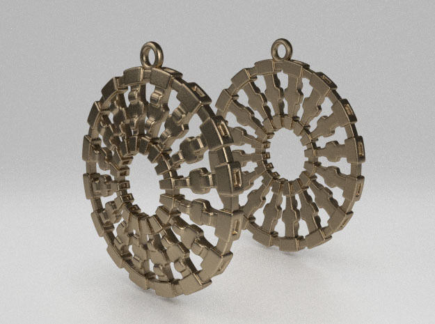 Treyu Earrings in Natural Bronze