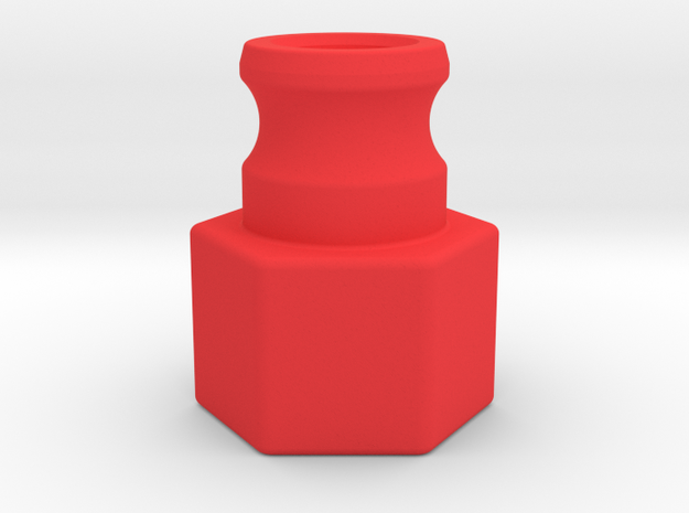 1-in FNPT Laminar Flow Nozzle in Red Strong & Flexible Polished