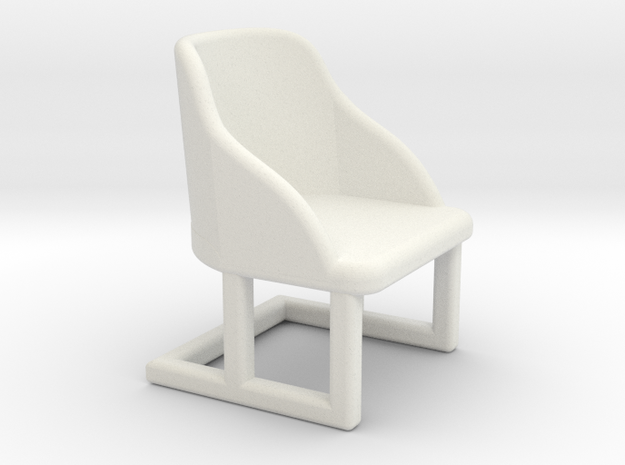 Chair Deco 1:48 in White Strong & Flexible
