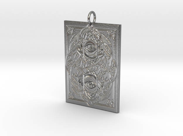 Watchers Pendant in Natural Silver