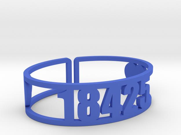 Pine Forest Zip in Blue Processed Versatile Plastic
