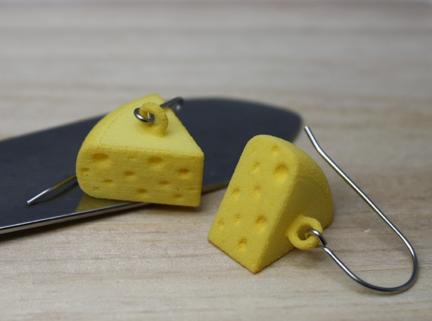 Cheese Wedge Earrings - Horizontal