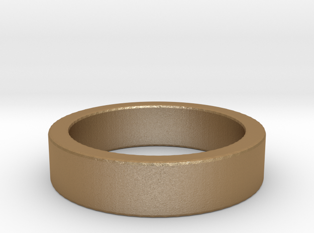 Basic Ring US7 in Matte Gold Steel