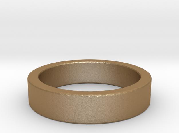 Basic Ring US9 in Matte Gold Steel
