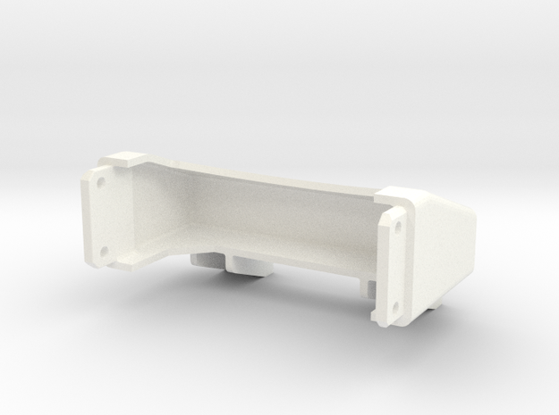 Tamiya Semi Truck Tapered Frame End - Type A in White Strong & Flexible Polished