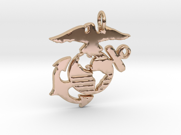 MC Pendant in 14k Rose Gold
