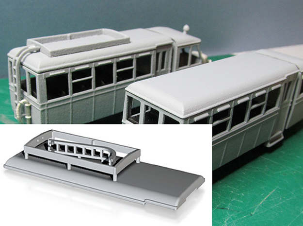 Part R-1 Railcar Roof A or B in White Strong & Flexible Polished