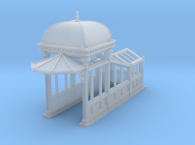 HO Scale (1:87.1) Subway Kiosk Entrance in Smooth Fine Detail Plastic