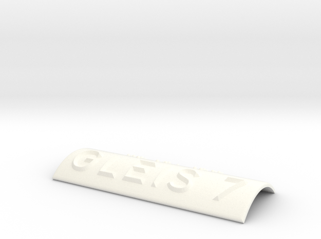 GLEIS 7 in White Processed Versatile Plastic