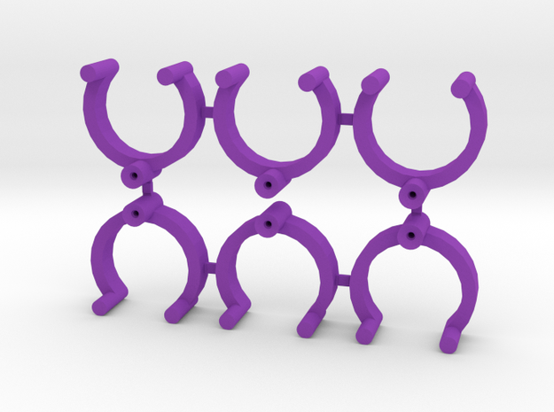 Collector Pins Magnet Adapter (6 pack) in Purple Processed Versatile Plastic