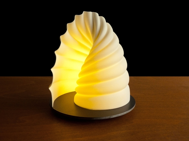 Shy-light - Ando (L) in White Natural Versatile Plastic