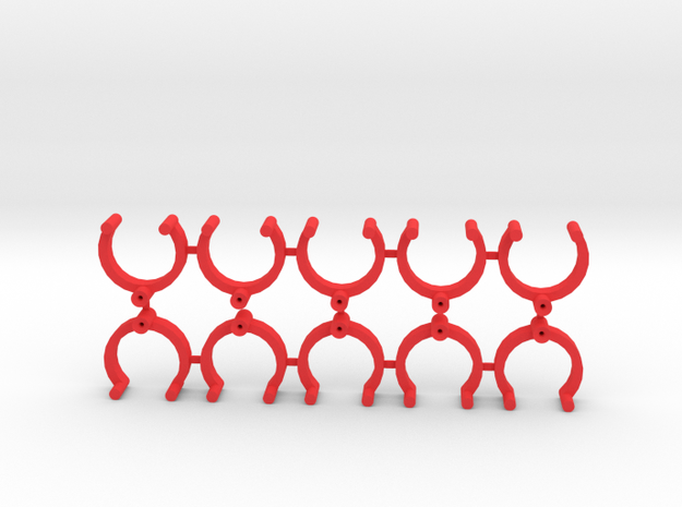 Collector Pins Magnet Adapters (10 pack) in Red Strong & Flexible Polished