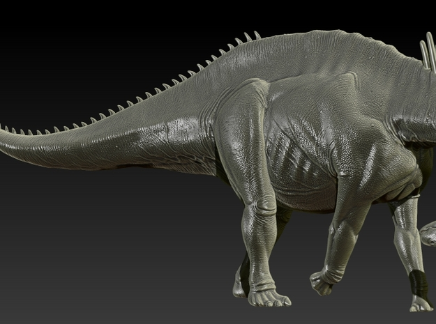 1/40 Amargasaurus - Neck Down 3d printed Zbrush render of final sculpt