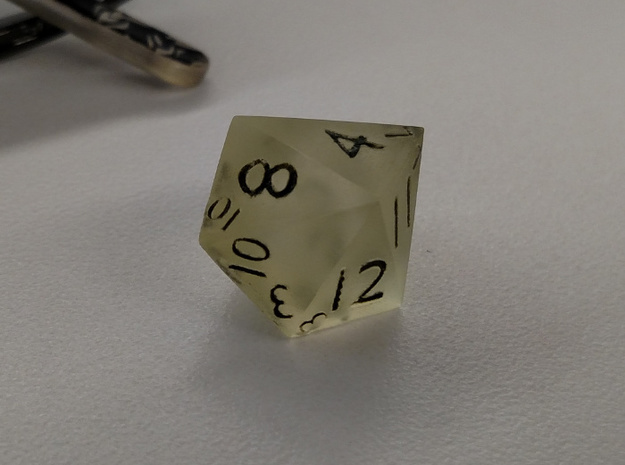 Sphericon-based d12 in White Natural Versatile Plastic