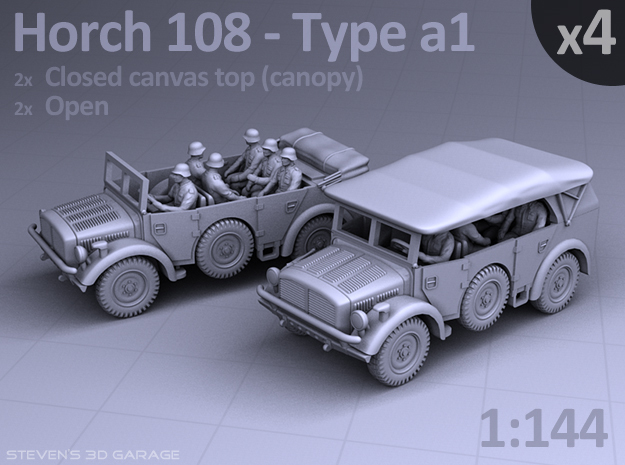 HORCH 108 a1 - (4pack) in Smooth Fine Detail Plastic
