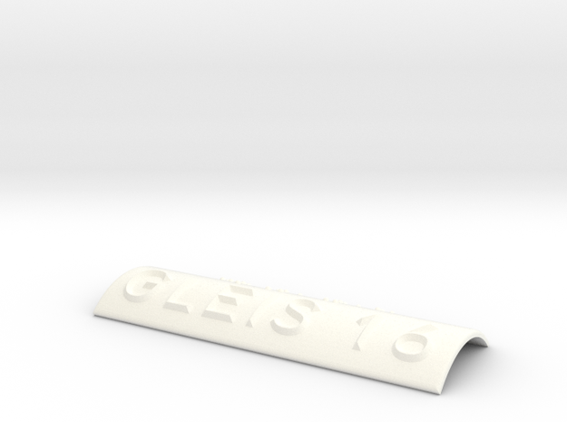 GLEIS 16 in White Processed Versatile Plastic