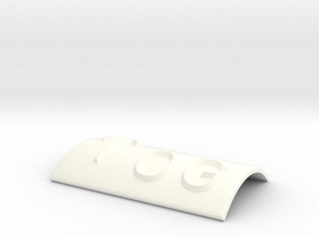 OG mit Pfeil nach oben in White Processed Versatile Plastic