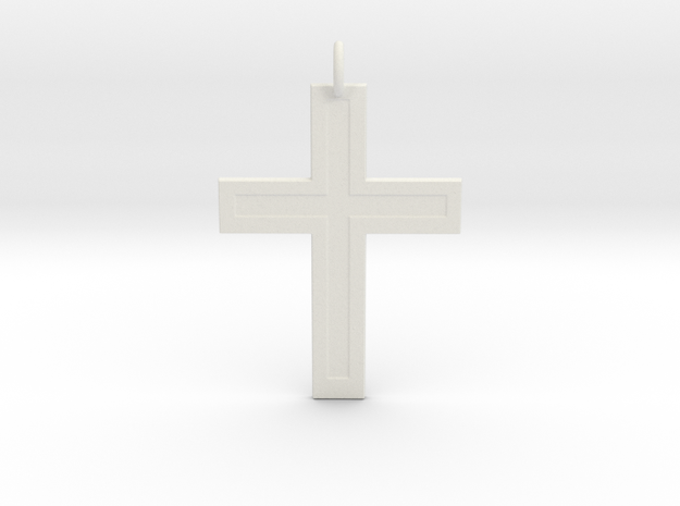 Cross in White Natural Versatile Plastic