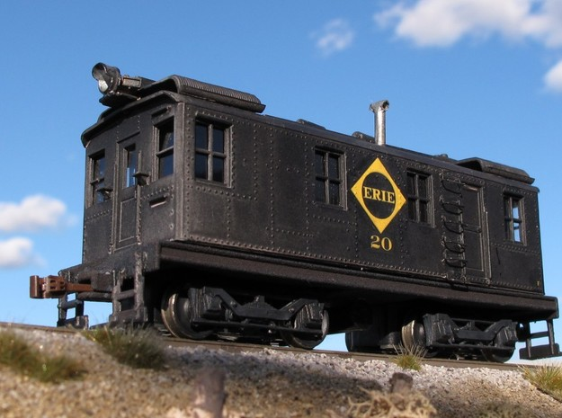 HO Scale Boxcab Locomotive Frame in Black Natural Versatile Plastic