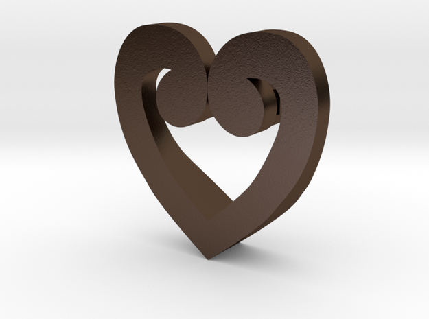 Corazon Mariana in Polished Bronze Steel