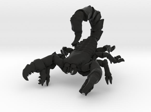 Skorpion 01 in Black Natural Versatile Plastic