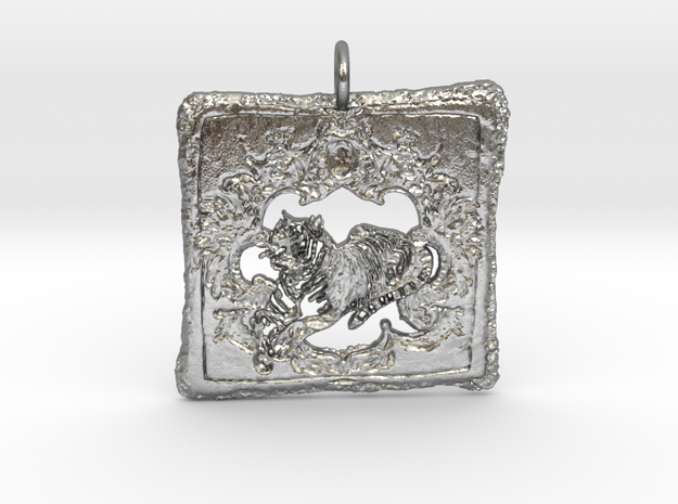 Wild Lux Pendant in Natural Silver