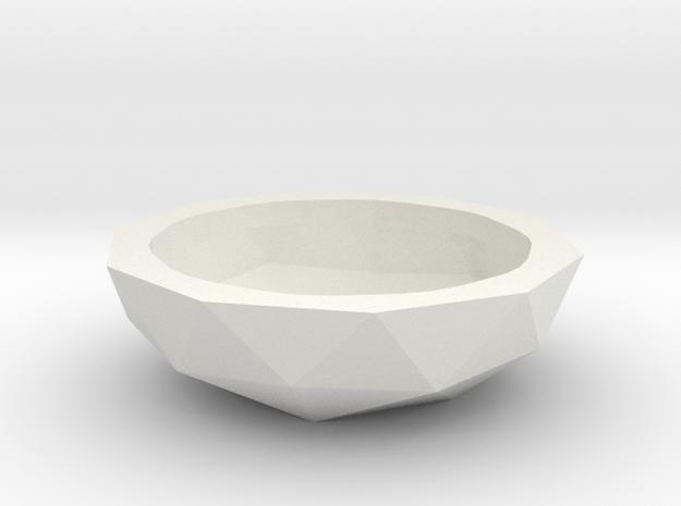 Fruit bowl or Plant pot (19 cm) in White Natural Versatile Plastic